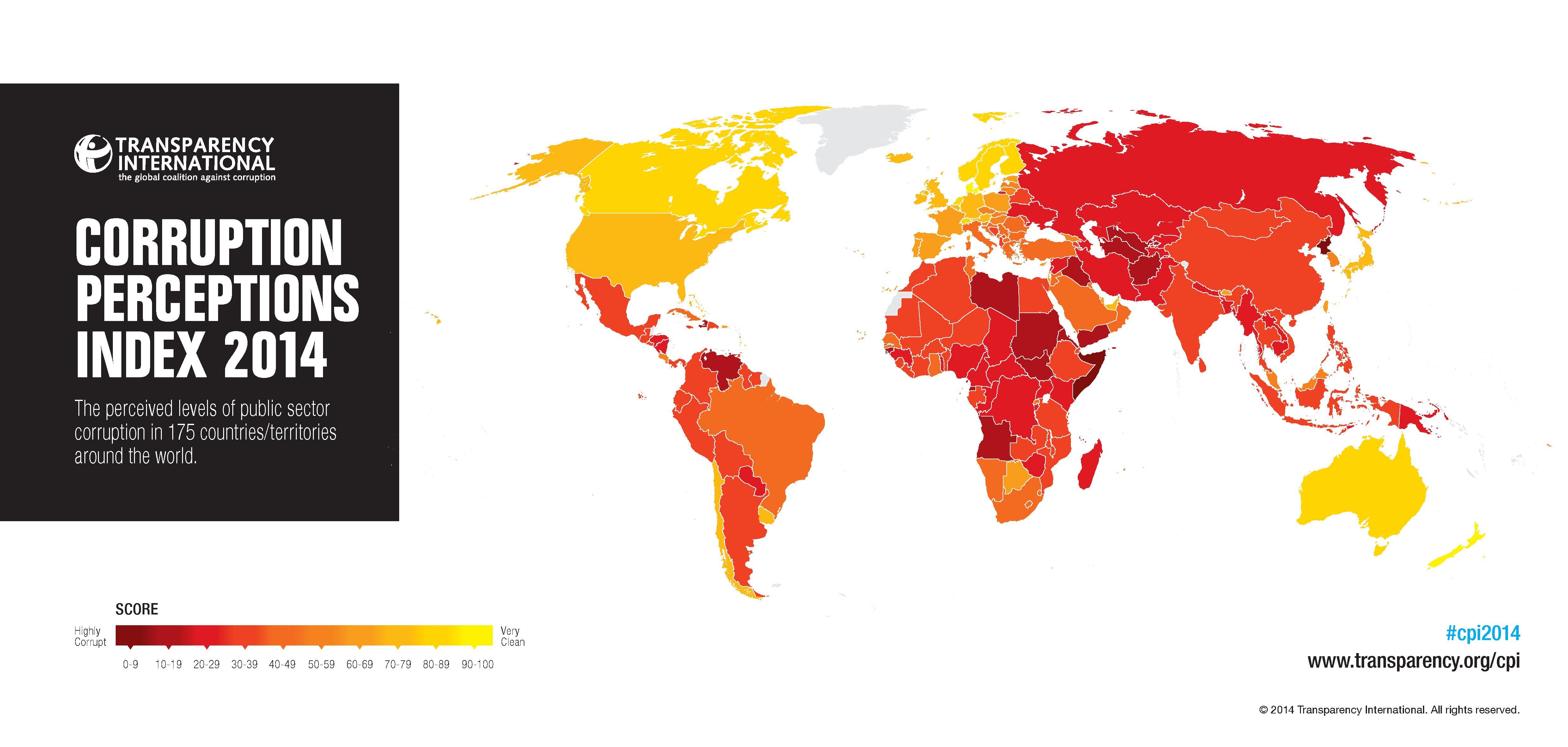 La Corruption concerne plus de 2/3 des économies mondiales, selon Transparency International