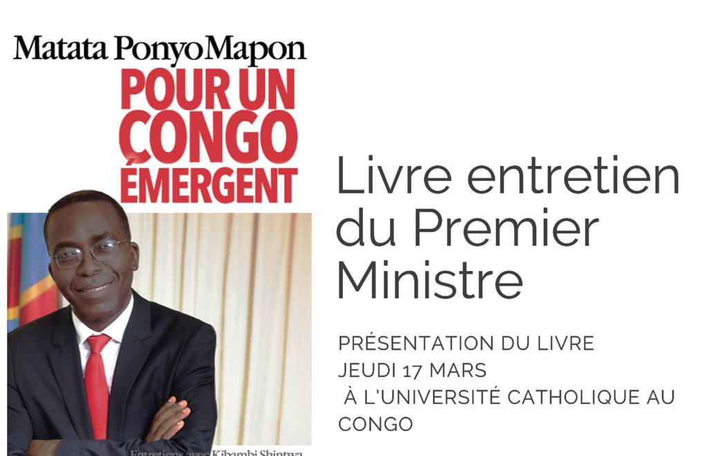 RDC : Trois raisons de lire « Pour un Congo émergent », l'ouvrage de Matata