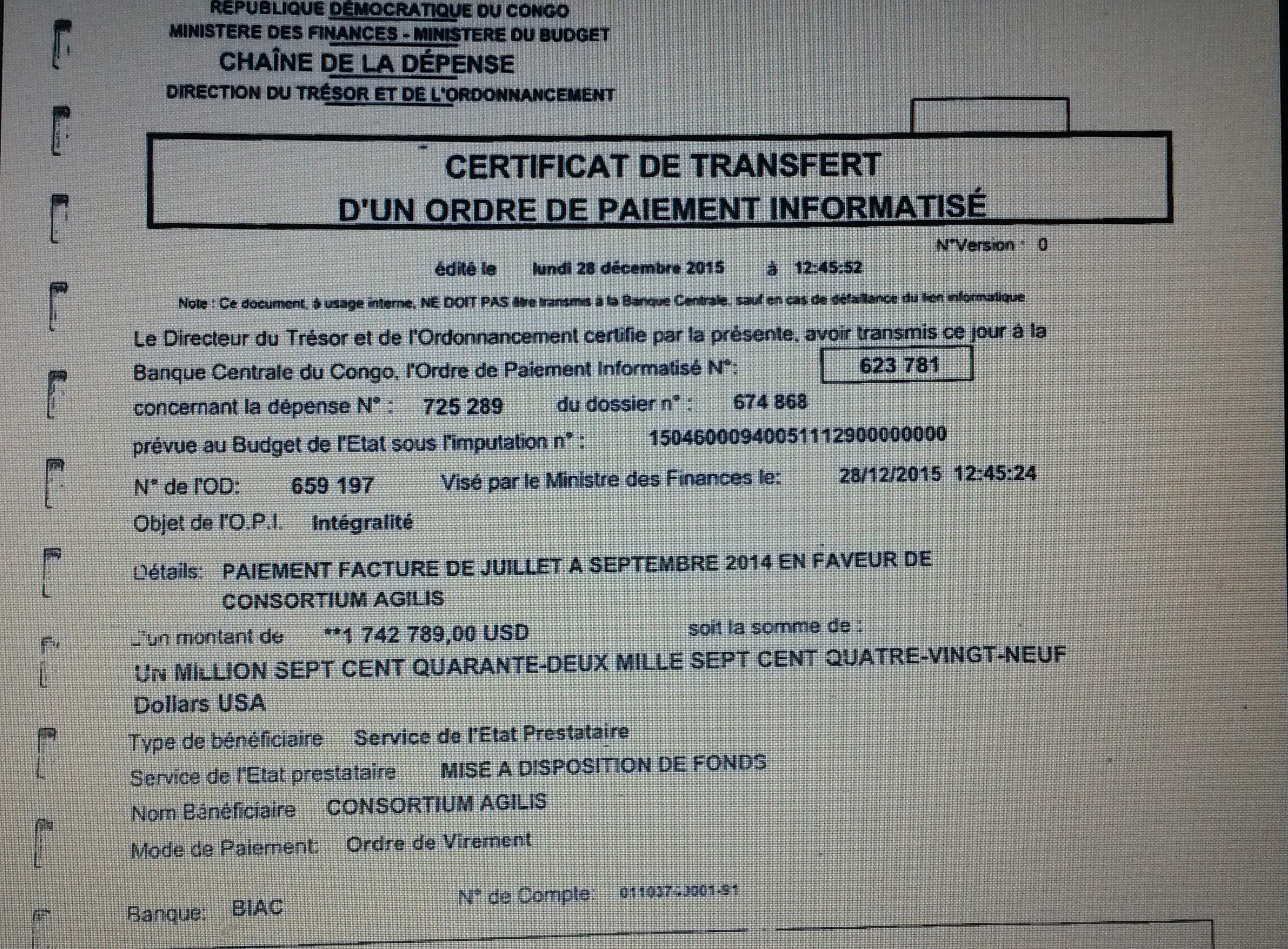 RDC : 1,7 millions de dollars, Luhaka au cœur d'un détournement 17