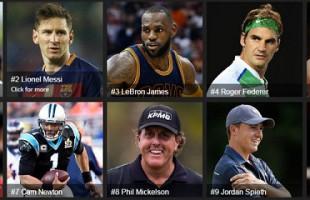 Monde : Les 100 sportifs les mieux payés en 2016 se sont partagés 3,15 milliards USD