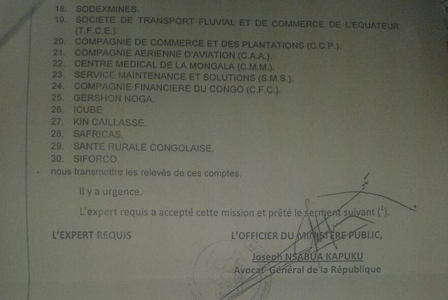 RDC : La justice requiert à la TMB le gel de 30 comptes bancaires des responsables de la BIAC