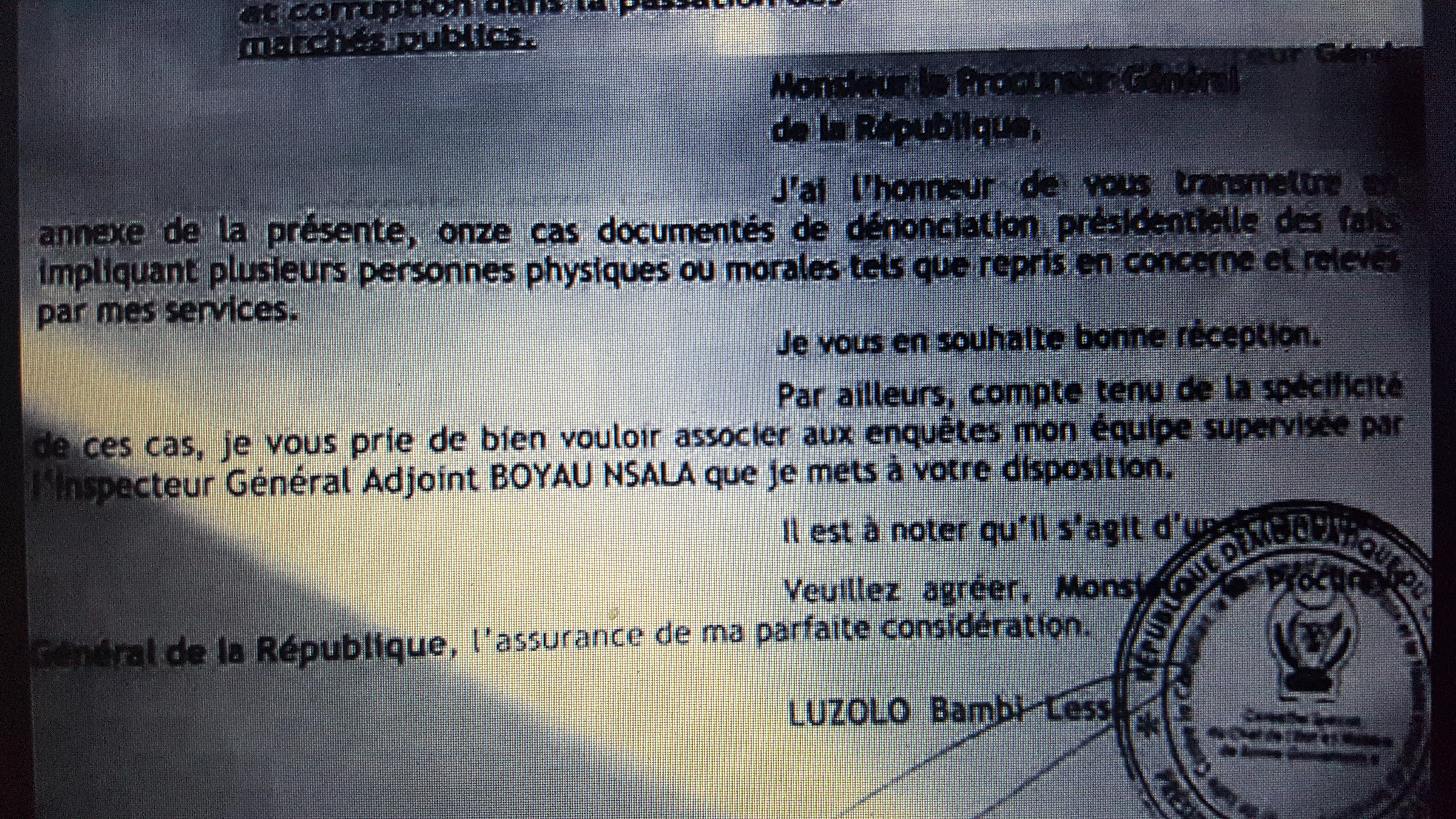 RDC : Corruption, les grandes lignes de la dénonciation présidentielle 5