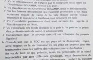 RDC : Détournement des salaires, l'intersyndical soupçonne l'implication de Tony Bolamba
