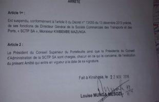 RDC : Suspension de Kimbembe de la SCTP, acte controversé d'un gouvernement démissionnaire ?