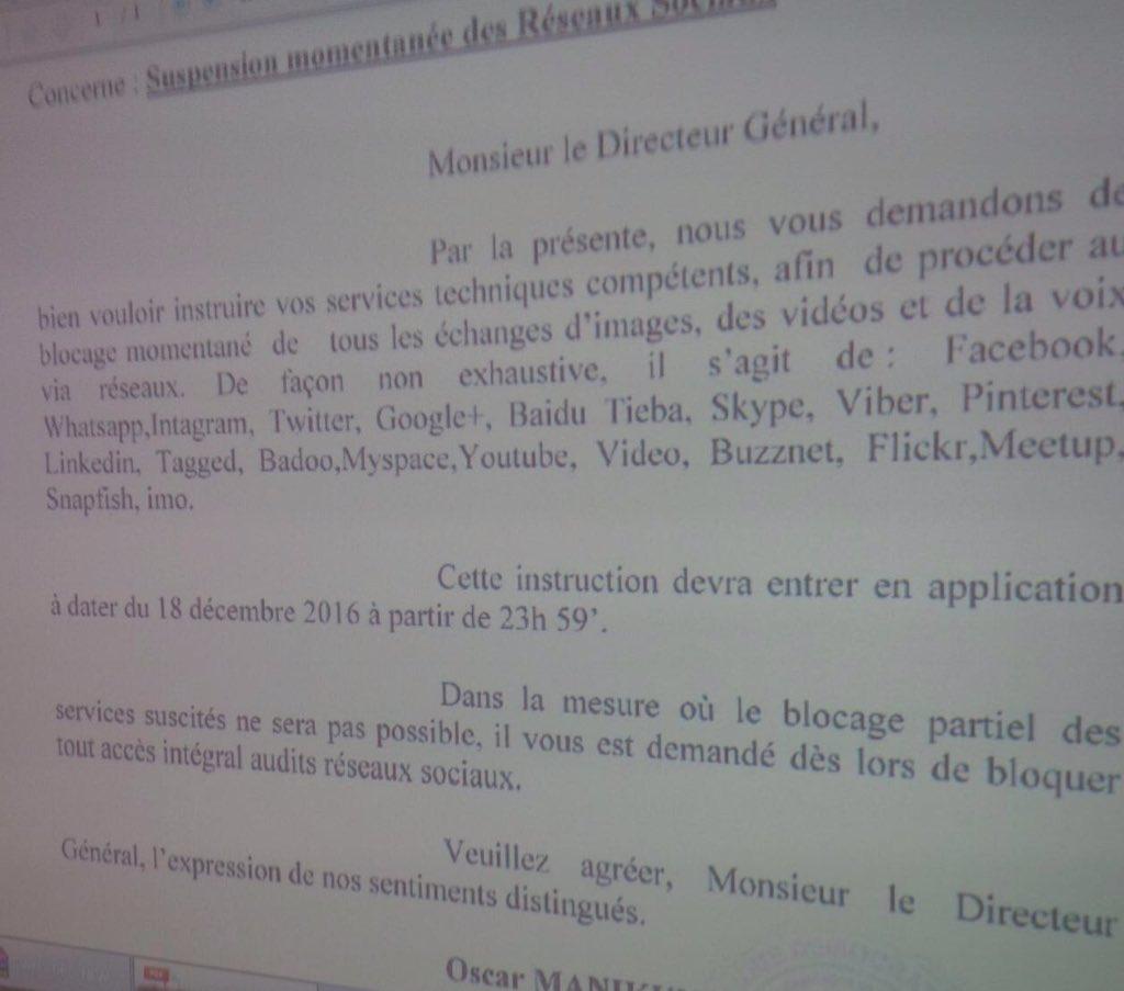 RDC : L'ARPTC instruit le blocage des réseaux sociaux ce 18 décembre dès 23h59