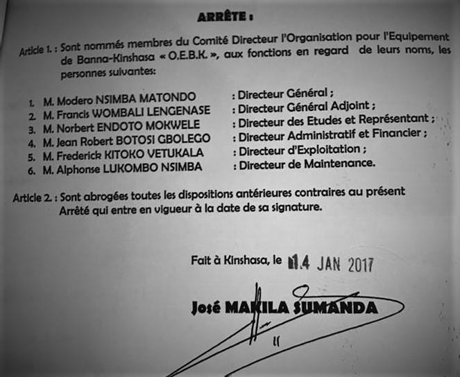 RDC : Dans la confusion, la BIAC invite ses débiteurs à s'acquitter de leurs obligations !