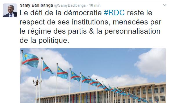RDC : Les deux tweets interpellateurs de Samy Badibanga !