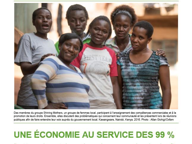 Monde : Crise des inégalités, OXFAM plaide pour une économie centrée sur l'humain 67