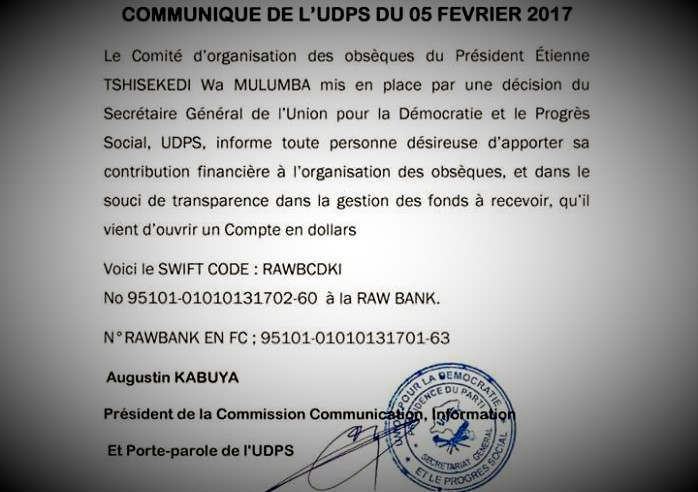 RDC : Obsèques de Tshisekedi, voici les dispositions officielles !