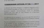 RDC : 2 raisons pour annuler le retrait anticipé du passeport semi-biométrique !