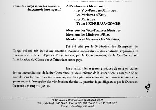 RDC : Tshibala suspend les missions de contrôle des sociétés privées