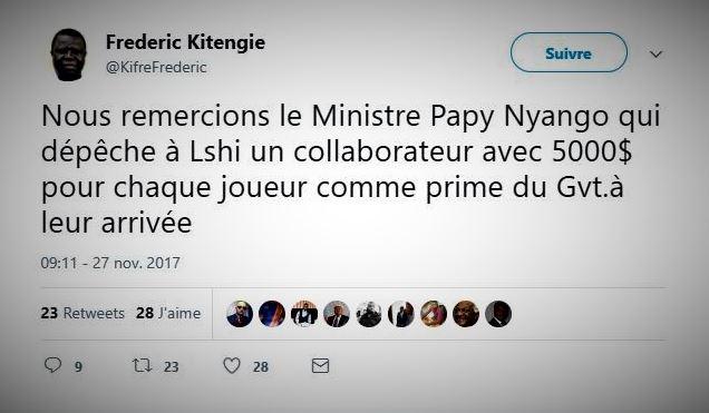 RDC : CAF, la participation du TP Mazembe a coûté plus de 530 000 USD à l'Etat !