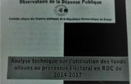 RDC : Processus électoral, plus de 170 millions USD décaissés par des partenaires au centre d'une controverse !
