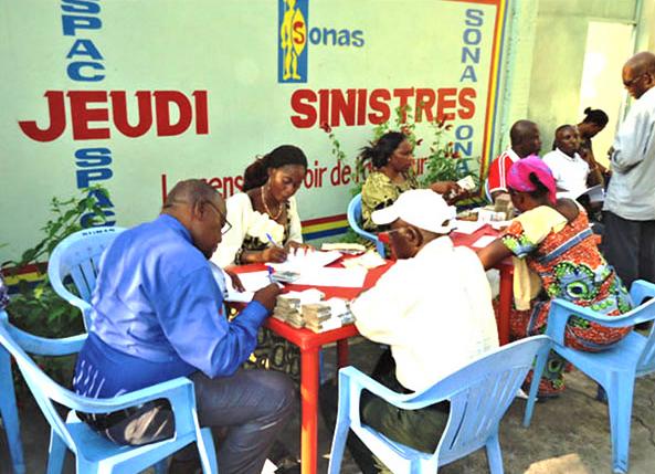 RDC : SONAS, 561 sinistrés indemnisés en Janvier 2018 !