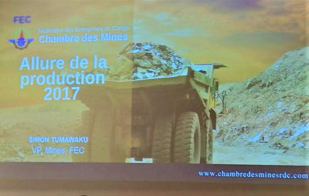 RDC: les huitchiffres de la production minière de 2017