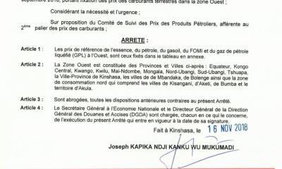 RDC : carburant, hausse du prix du litre de 130 CDF dès ce dimanche (document) 4