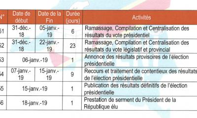 RDC: présidentielle, l'annonce des résultats provisoires prévue le 6 janvier 2019 7
