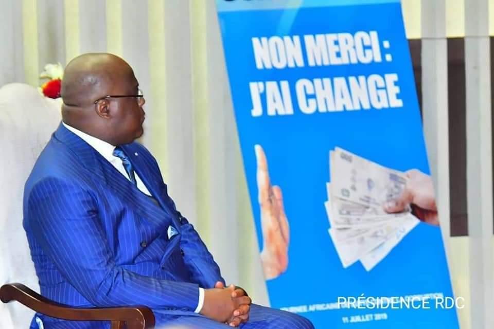 Tshisekedi :« je réitère mon indéfectible engagement à lutter contre la corruption » 1