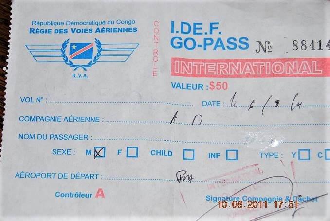RDC: le gouvernement incorpore l'IDEF dans le coût du billet d'avion 1
