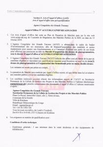 RDC : ACGT lance un Avis d'appel d'offres pour l'acquisition des drones de photogrammétrie 2