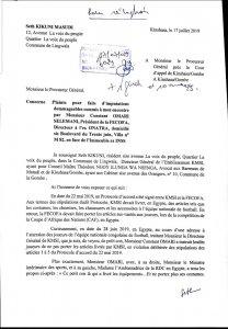 RDC: Kikuni saisit la justice contre Omari pour imputations dommageables (Plainte) 2