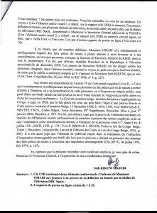 RDC: Kikuni saisit la justice contre Omari pour imputations dommageables (Plainte) 3