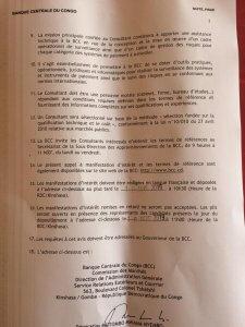 RDC: la Banque centrale lance un Avis à manifestation d'intérêt 3