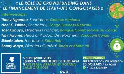 Kinshasa : «crowdfunding pour financer les startups de la RDC», thème d'un échange prévu le 5 septembre 2019 101