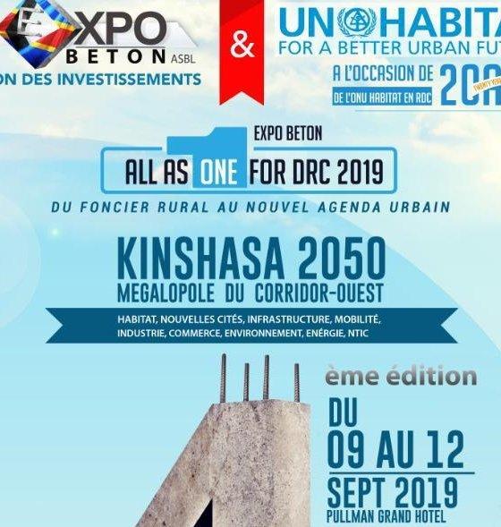 Kinshasa: Expobeton 2019, le rendez-vous des investisseurs fixé du 9 au 19 septembre 1