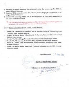 RDC: LAC Sarl, le comité de liquidation fixe une séance publique au 30 août 2019 4
