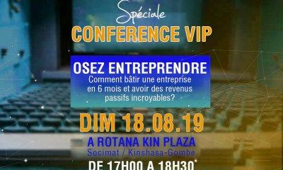 """RDC : """"osez entreprendre différemment"""", thème d'une conférence du Réseau des vainqueurs 50"""