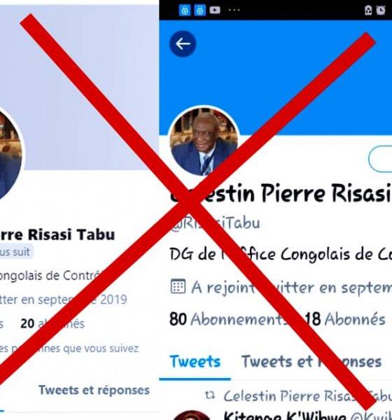 RDC : l'OCC dénonce un faux compte Twitter au nom de son directeur général Célestin Pierre Risasi Tabu 1
