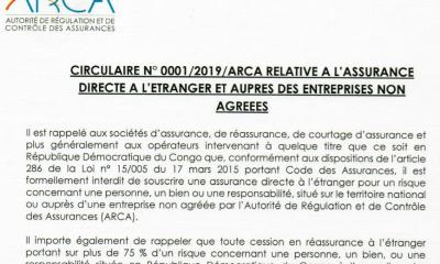 RDC : ARCA rappelle le respect de l'article 286 du Code des assurances ! 9