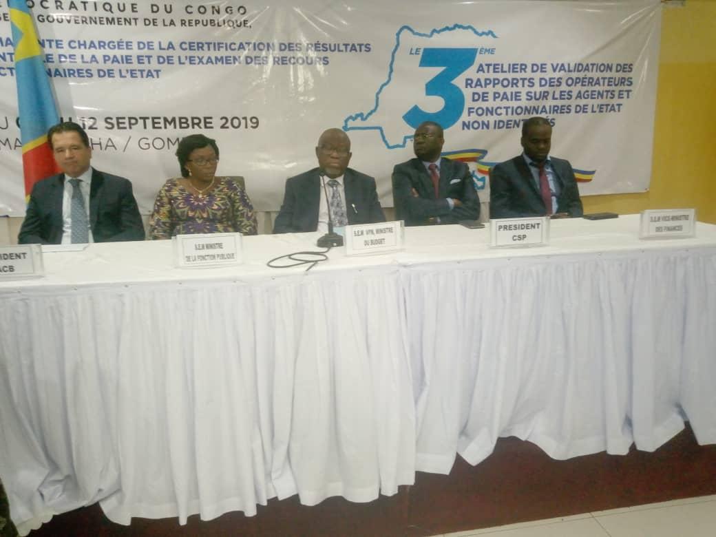 RDC : 10 000 agents fictifs à élaguer du fichier de paie, 6,5 millions USD à récupérer par l'Etat 1