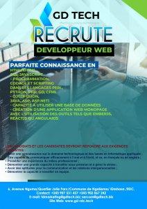RDC : GD TECH lance un recrutement pour six postes 3
