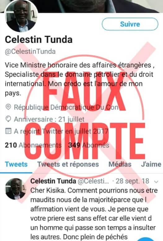RDC : le ministre de la Justice dénonce des faux comptes Twitter ouverts en son nom 1