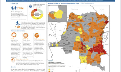 RDC : plus de 21,8 millions de congolais en situation d'insécurité alimentaire ( IPC 2020) 3