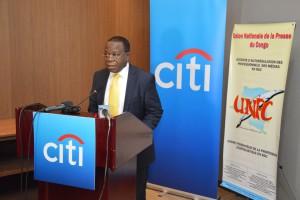 M. Modeste Bahati Lukwebo, Ministre de l'Economie. Ph. Tiers