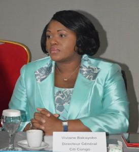 Madame Viviane BAKAYOKO, lors de la Table Ronde des médias Financiers à Kinshasa. Ph. Tiers