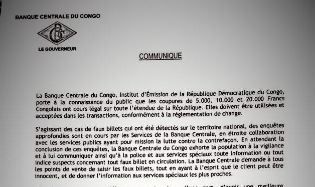 RDC : La Banque Centrale enquête sur la contrefaçon et appelle la population à la vigilance ! 3