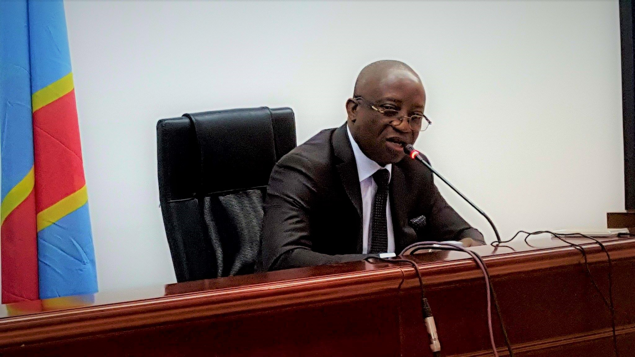 Pierre Kangudia face à la presse – @Zoom_eco