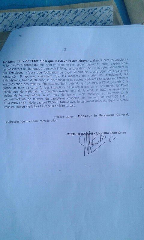 Plainte contre KIkwa OGEFREMM