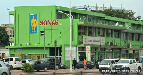 Siège Social de la Sonas à Kinshasa. Ph. Radio Okapi