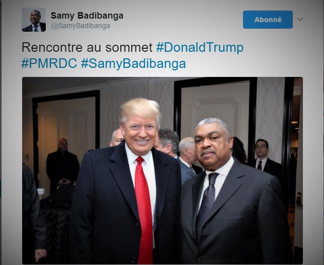 Tweets @SamyBadibanga -Trump
