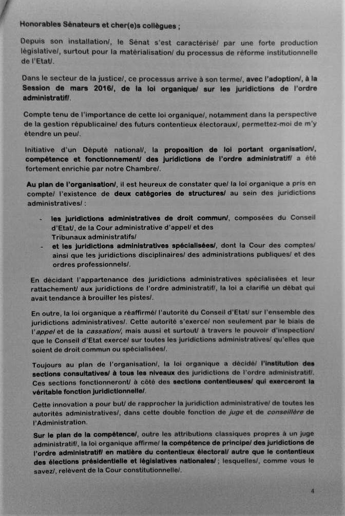 Discours Rentrée Parlementaire Mars 2017 Kengo Page 4
