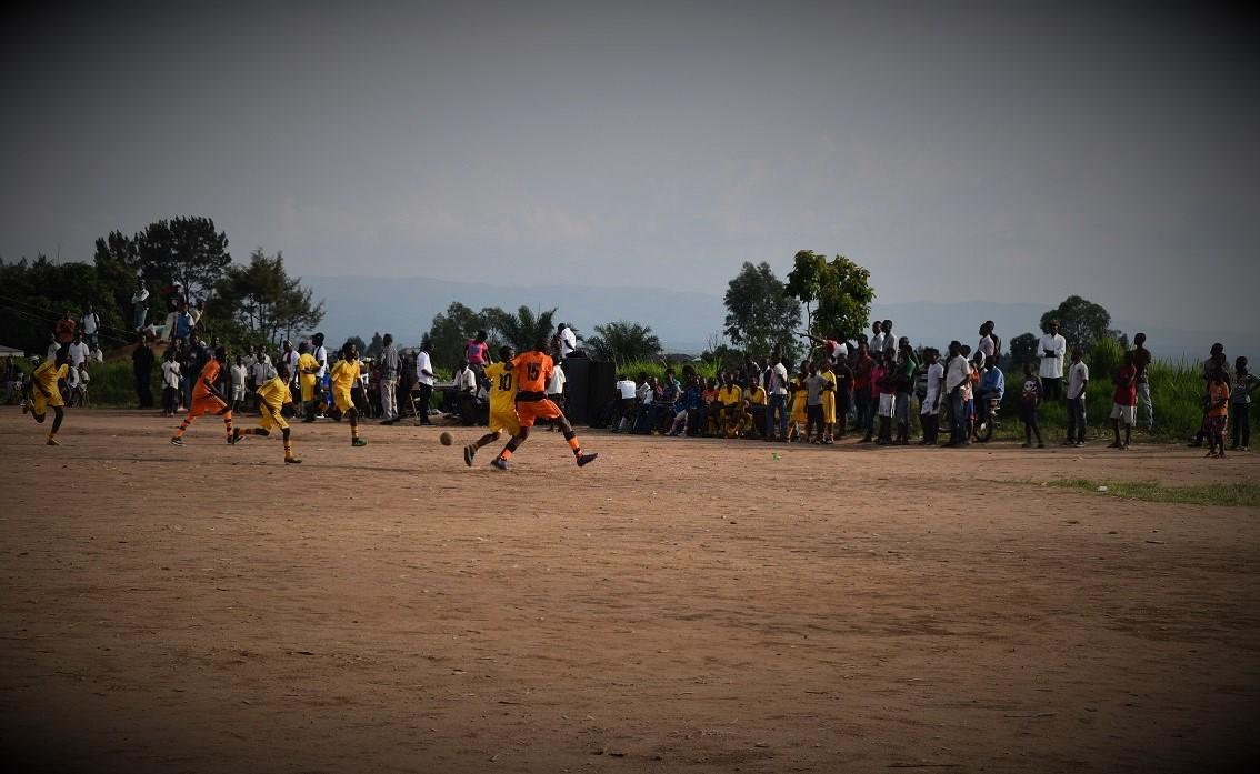 Match de football lors de la célébration à #Bunia de la Journée de l'Enfant Africain