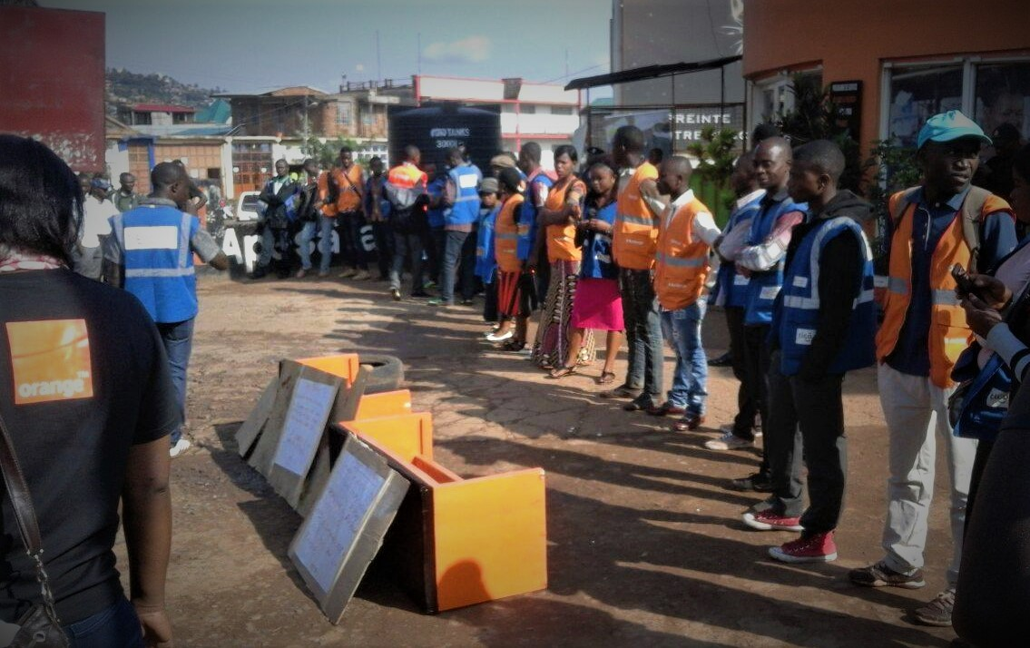 Sit In Vendeurs ambulants OrangeTigo RDC à Bukavu