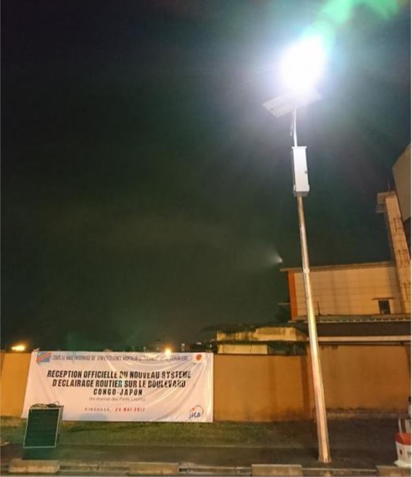 Boulevard Congo-Japon inauguration lampadaires solaires @Zoom_eco