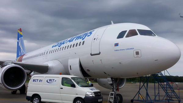 RDC : Congo Airways, l'A320 Patrice-Emery Lumumba en Check-C