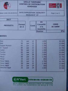 RDC : Bracongo revoit à la hausse les prix de ses bières